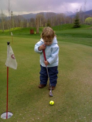 Jan juega al golf